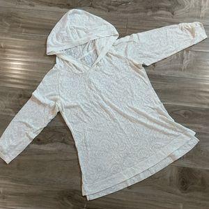 ❄️ 3/$25 COLUMBIA Hooded Sheer Burnout Top